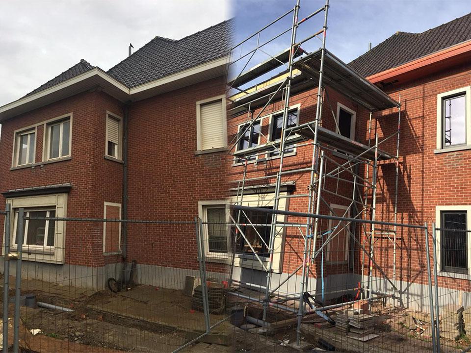 Renoveren baksteen gevel - reinigen - Repair Projects