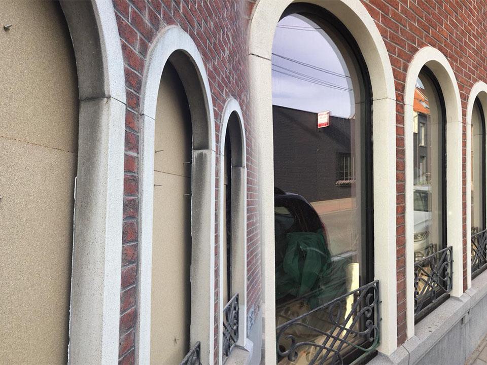 Renoveren Franse witsteen rond ramen - schrijnwerk - Repair Projects