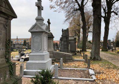 Zandstralen grafsteen en grafmonument   renovatie